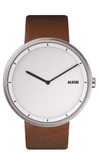 Save today alessi unisex al13001 out time brown leather for Amazon alessi