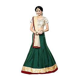 Triveni Art Silk Lehenga Choli (TSSHFHK2807_Green)