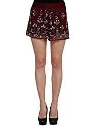 Oxolloxo Women red party shorts