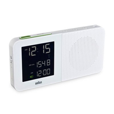 Digital Alarm Clock Radio Color: White