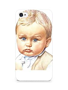Amez designer printed 3d premium high quality back case cover for Apple iPhone 4s (Cute Baby)