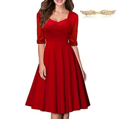 byd-mujeres-vestidos-manga-1-2-v-escote-retro-a-line-rockabilly-plisado-vestido-de-coctel-dama-falda