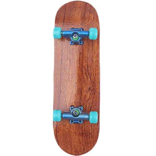 Mini Wooden Finger Skateboard Creative Novelty Toys(Sky Blue)