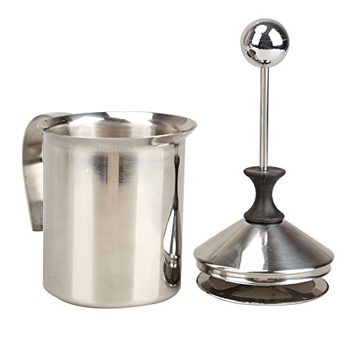 Generic 400ml Stainless Steel Milk Frother Double Mesh Milk Creamer Milk Foam
