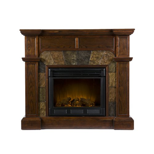 Purchase SEI Cartwright Convertible Electric Fireplace Espresso Top Gas Fi