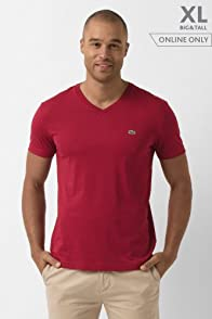 Big Short Sleeve Pima Jersey V-neck T-shirt