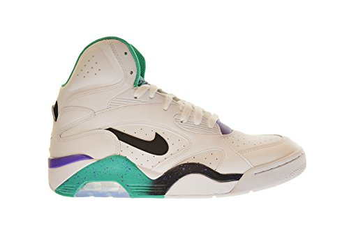 a50089c03c Nike New Air Force 180 Mid Mens Shoes White/Black-Atomic Teal-Hyper Grape  537330-102 -