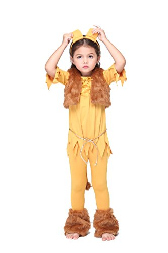 NonEcho Animal Costume for Kids Lion Halloween Costume 3-11 Years Old