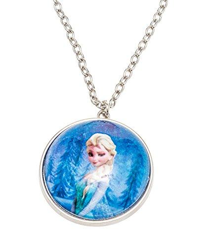Disney 755702-Frozen Collana con mezza palla di neve diametro 3,5cm come ciondolo e Elsa motivo in confezione regalo 8x 2.5x 13cm
