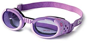 Doggles ILS Extra Small Lilac Flower Frame with Purple Lens Dog Goggles