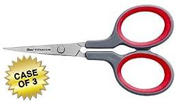 Clauss 4\'\' Titanium Bonded Non-Stick Precision Scissor, Case of 3