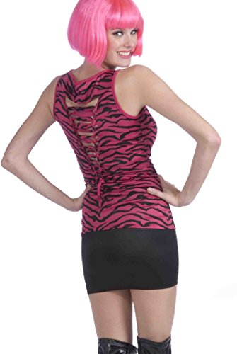 Forum Novelties Women's 80's To The Maxx Pink Zebra Print Shirt, One Size