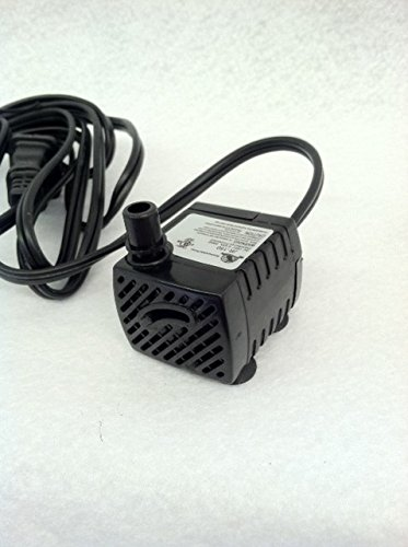 American pond small table top fountain pump 40gph flow 2 for Best pond pump for small pond