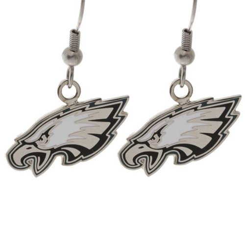 Philadelphia Eagles - Logo Earrings. $9.95. These shiny earrings are silver colored with white and black enamel accents! The perfect way to show your Philly