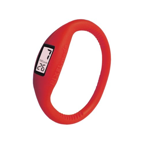 Pixelmoda Classic Digital Red Color Watch, Medium