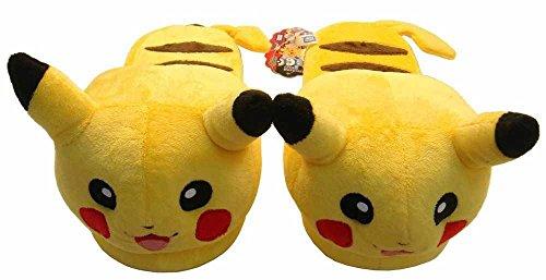 "Doll Nintendo Pokemon Pikachu 11"" Adult Plush Slipper 1 Pair front-765017"