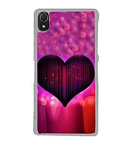 Purple Heart 2D Hard Polycarbonate Designer Back Case Cover for Sony Xperia Z3 :: Sony Xperia Z3 Dual :: Sony Xperia Z3 D6633