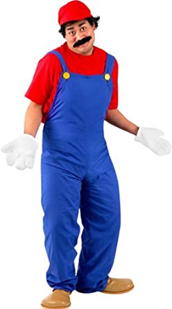 Amazon.com: Adult's Super Mario Costume (Large 42-44