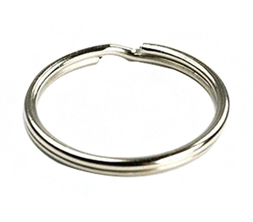 Ocharzy Silver Steel Round Edged Keychain Keyrings (100PCS, 0.5 Inches) (Half Inch Split Key Rings compare prices)