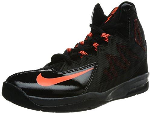Boy's Nike Air Max Stutter Step Basketball Shoe Black/Grey/O