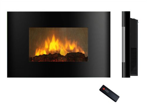 AKDY Az520al Enclosure Mounted Electric Fireplace Control Remote Heater Firebox Black