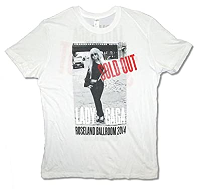Lady Gaga Sold Out Roseland Spring Shows Adult White T Shirt