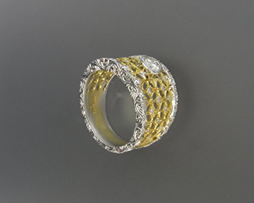bardi-buccellati-style-ring-in-yellow-and-white-gold-18k-with-1-central-diamond-and-additional-diamo