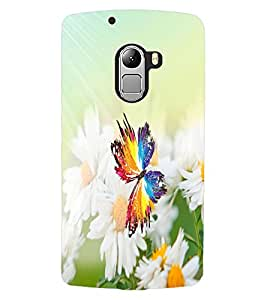 ColourCraft Butterfly and Flowers Design Back Case Cover for LENOVO VIBE X3 LITE