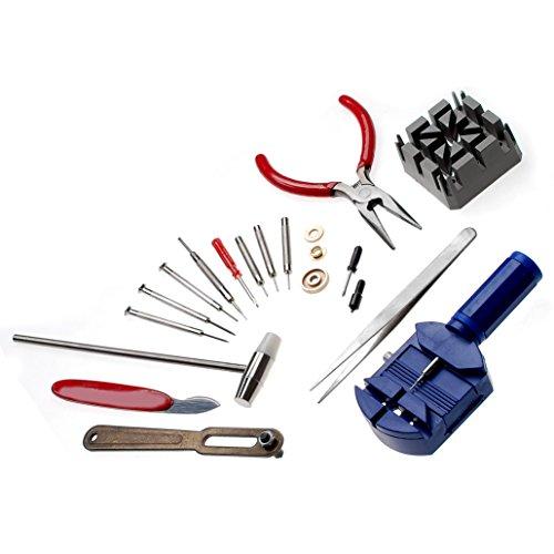 jzk lot kit outils r paration montre horloger outil de d capsuleur pour broches printemps bar. Black Bedroom Furniture Sets. Home Design Ideas