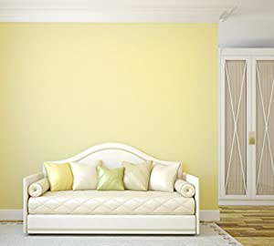 TemPaint: Removable Peel-and-Stick Wallpaper (Buttercream Yellow)