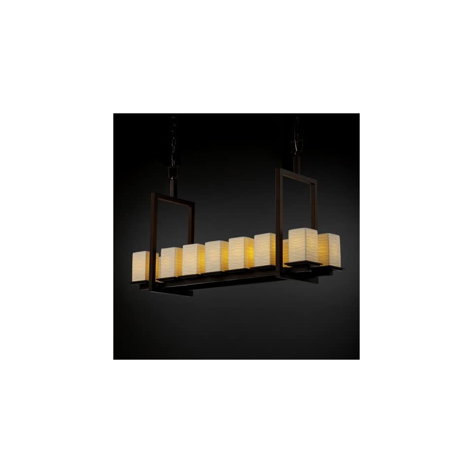 Justice Design Group POR 8669 Montana 14 Light Bridge Chandelier (Short)