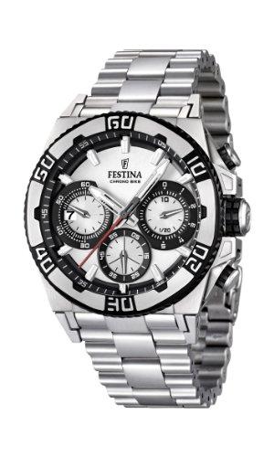 Festina F16658/1 - Reloj cronógrafo de cuarzo para hombre con correa de acero inoxidable, color plateado