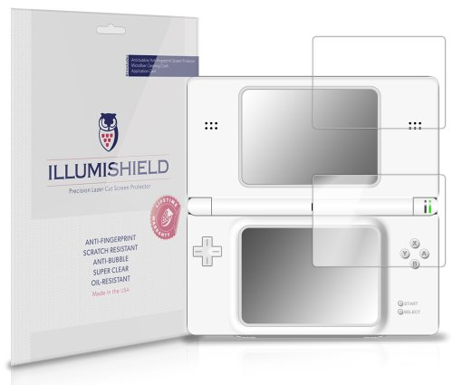 Illumishield - Nintendo Ds Lite Screen Protector Japanese Ultra Clear Hd Film With Anti-Bubble And Anti-Fingerprint - High Quality (Invisible) Lcd Shield - Lifetime Replacement Warranty - [3-Pack] Oem / Retail Packaging