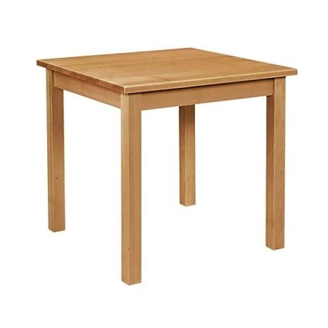 Bolero Table de salle à manger en bois Carré Finition chêne 760 mm.