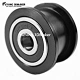 Zamtac High Precision CNC Delrin Smooth Idler Pulley Wheel Kits for Openbuilds v-Slot Rail 100combo/lot