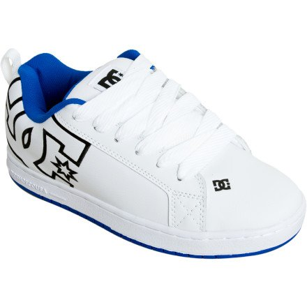 DC Men's Court Graffik Action Sports Shoe,White/Royal/White,11 M US
