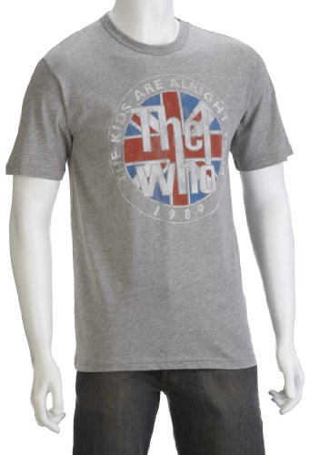 Junk Food Men's The Who T-Shirt Steel Heather SG619-155 Small