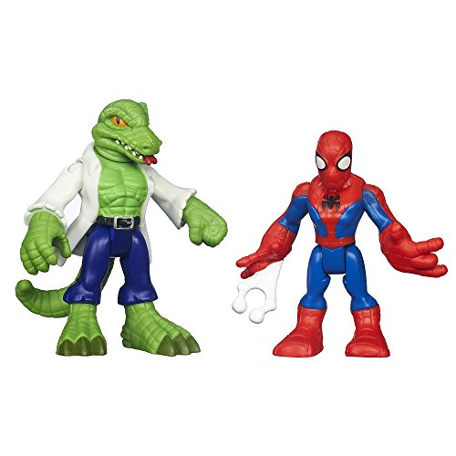 Playskool Heroes Marvel Super Hero Adventures Spider-Man and Lizard Figures - 1