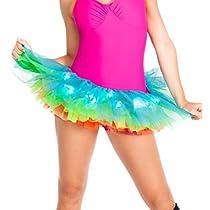 Adult Light Up Neon Rainbow TutuA1840multi-coloredOne-Size