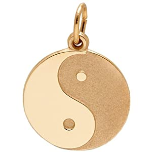 Rembrandt Charms Yin Yang Charm, 14K Yellow Gold