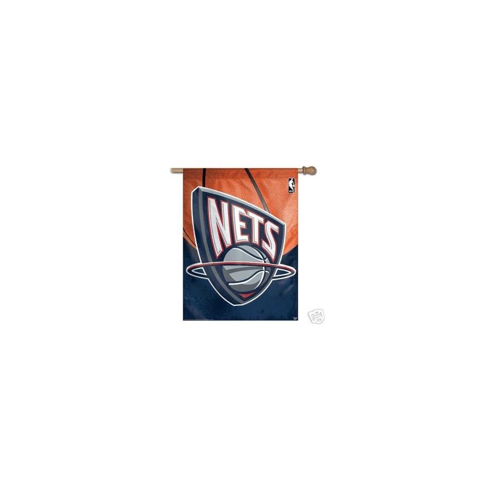7c10f4a7766 NBA Vertical New Jersey Nets Flag / Banner on PopScreen