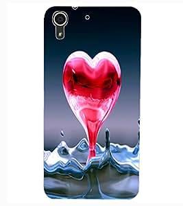 ColourCraft Creative Love Heart Design Back Case Cover for HTC DESIRE 626s