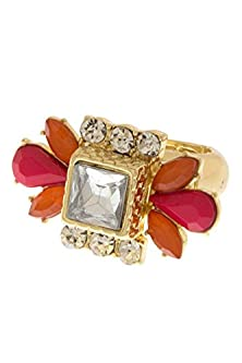 buy Karmas Canvas Rock Candy Flower Cocktail Ring (Mint)