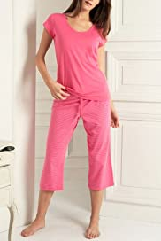 Limited Collection Pure Cotton Cropped Pyjamas [T37-3455-S]