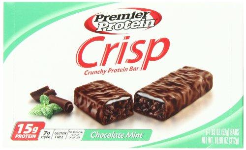 Premier Nutrition Protein Crisp Bars, Chocolate Mint, 1.83 oz. Bars,  (Pack of 6)