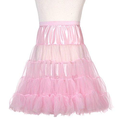 Toddler Girls Pink Half Tea Length Petticoat Slip 4T