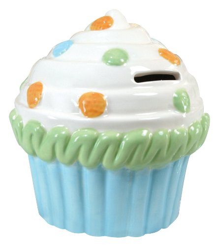 Stephan Baby Ceramic Cupcake Bank, Polka Dot Frosting (Discontinued by Manufacturer)