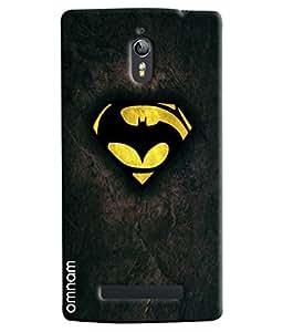 Omnam Batman Logo Printed Designer Back Cover Case for Oppo Find 7