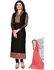 Justkartit Black Colour Straight Cut Wedding Wear Salwar Kameez / Office Wear Salwar Suit / Party Wear Salwar...