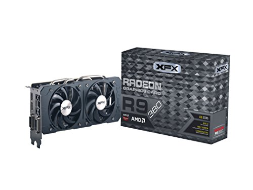 XFX R9 380 Scheda Video, 4GB DD, Nero